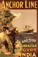 Gibraltar and India II Framed Print