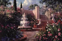 Fountain Garden Fine Art Print