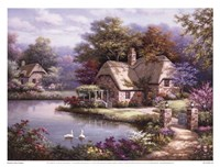 Swan Cottage I Fine Art Print