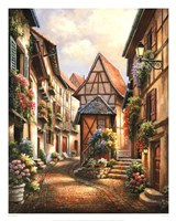 Village Court Fine Art Print