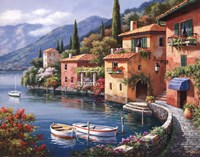 Villagio Dal Lago Framed Print