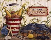 Blue Crabfest Framed Print