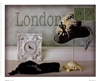 London Hat Framed Print