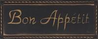 Bon Appetit Noir Framed Print