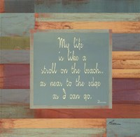 Beaches Quotes II Framed Print