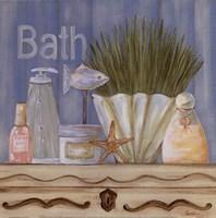 Country Blue Bath Framed Print