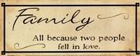 Vintage Family Framed Print