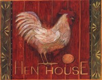 Hen House Framed Print