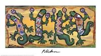 Gecko Maracas Band Framed Print