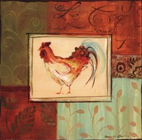 Patchwork Rooster II Fine Art Print