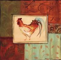 Patchwork Rooster II Framed Print