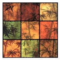 Bamboo Patchwork II Framed Print
