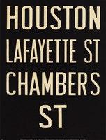 Houston/Lafayette Framed Print