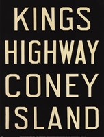 Kings Hwy/Coney Island Framed Print