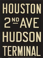 Houston/Hudson Terminal Fine Art Print