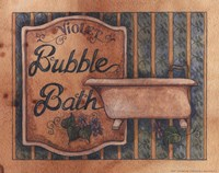 Bubble Bath Framed Print
