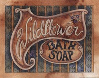 Wildflower Bath Soap Framed Print