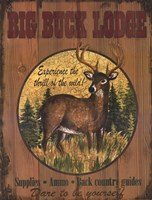 Big Buck Lodge Framed Print