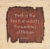 Faith Is The Key Framed Print