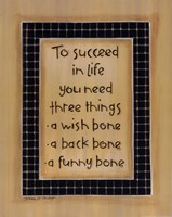 To Three Things Framed Print