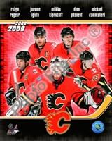 2008-09 Calgary Flames Team Composite Fine Art Print