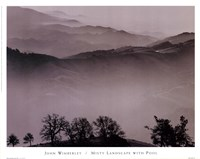 Misty Landscape With Pool Fine Art Print