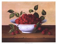 Still Life With Raspberries Fine Art Print