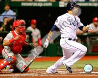 Carlos Pena Game two of the 2008 MLB World Series Fine Art Print