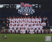 2008 Philadelphia Phillies World Series Champs Team Sit Down Fine Art Print