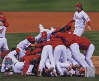 2008 Philadelphia Phillies World Series Champions Team Celebration Horizontal Framed Print