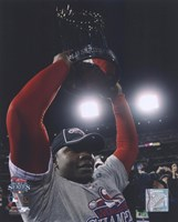 Ryan Howard with 2008 World Series Trophy Fine Art Print