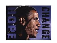 Barack Obama: Hope, Change Fine Art Print