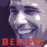 Barack Obama:  Believe Fine Art Print