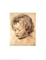Head of a Boy Fine Art Print