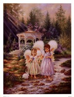 Angel Sisters Framed Print