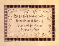 Bless This Home Framed Print