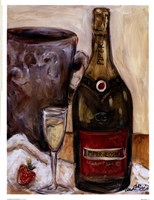 Champagne And Strawberries Fine Art Print