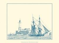 Sailing Ships in Blue I Fine Art Print