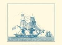 Sailing Ships in Blue II Fine Art Print