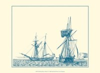 Sailing Ships in Blue IV Fine Art Print
