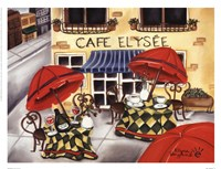 Cafe Elysee Framed Print
