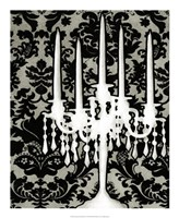 Patterned Candelabra I Fine Art Print