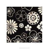 Silver Floral Cascade III Framed Print