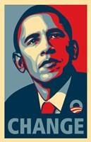 RARE Obama Campaign Poster - CHANGE Fine Art Print
