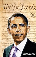 Barack Obama - (We the People) Campaign Poster Wall Poster
