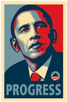 RARE Obama Campaign Poster - PROGRESS Fine Art Print