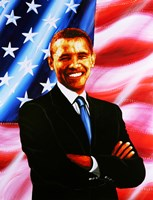 Barack Obama - painting Fine Art Print