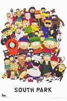 South Park - style A Framed Print