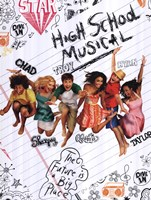 High School Musical 2 (sketchbook) Framed Print