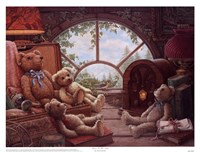 Bears In The Attic Framed Print